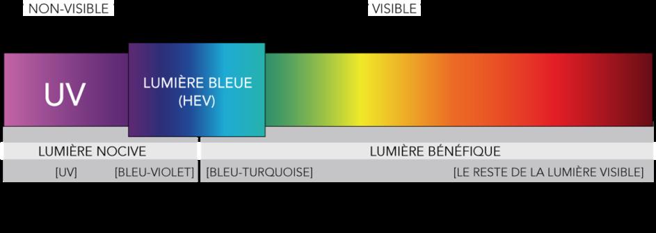 Lumière bleue impact