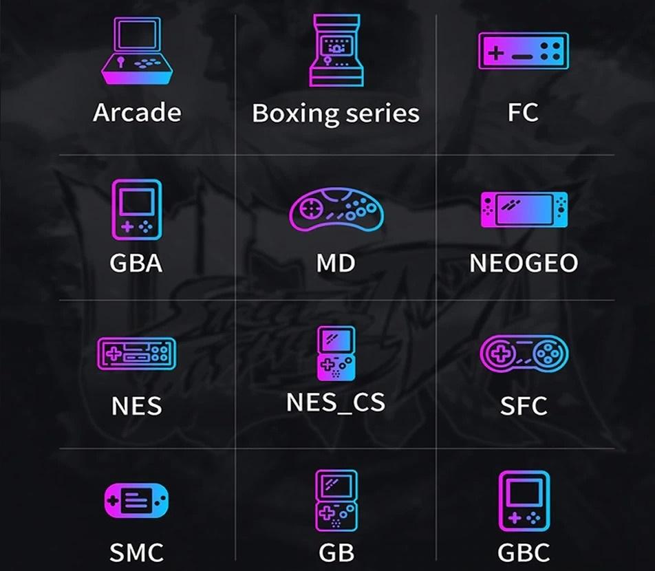 Console retrogaming - catalogue jeux