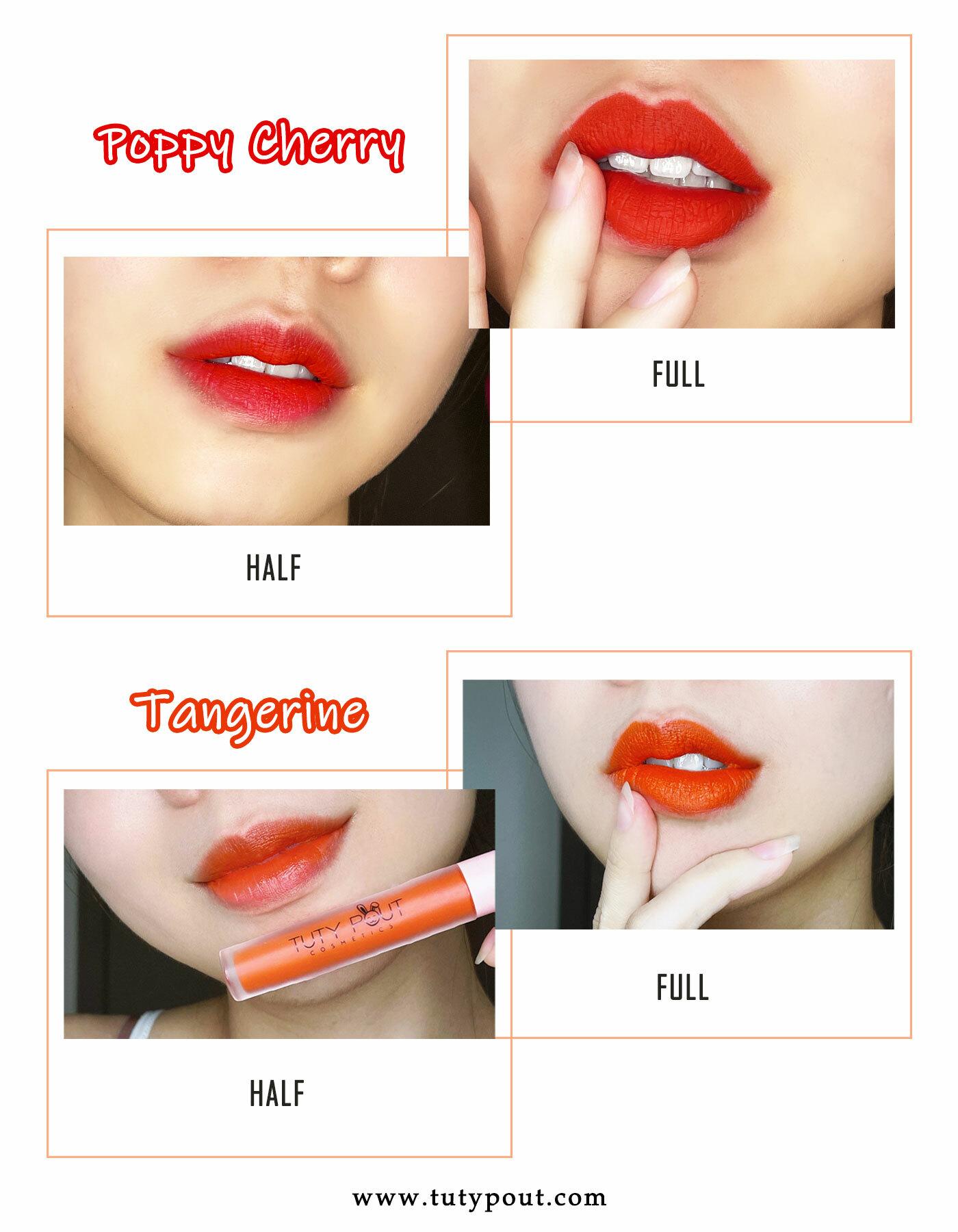 Rogue series - 100% vegan & cruelty free matte liquid long-lasting RED lipstick (collage)