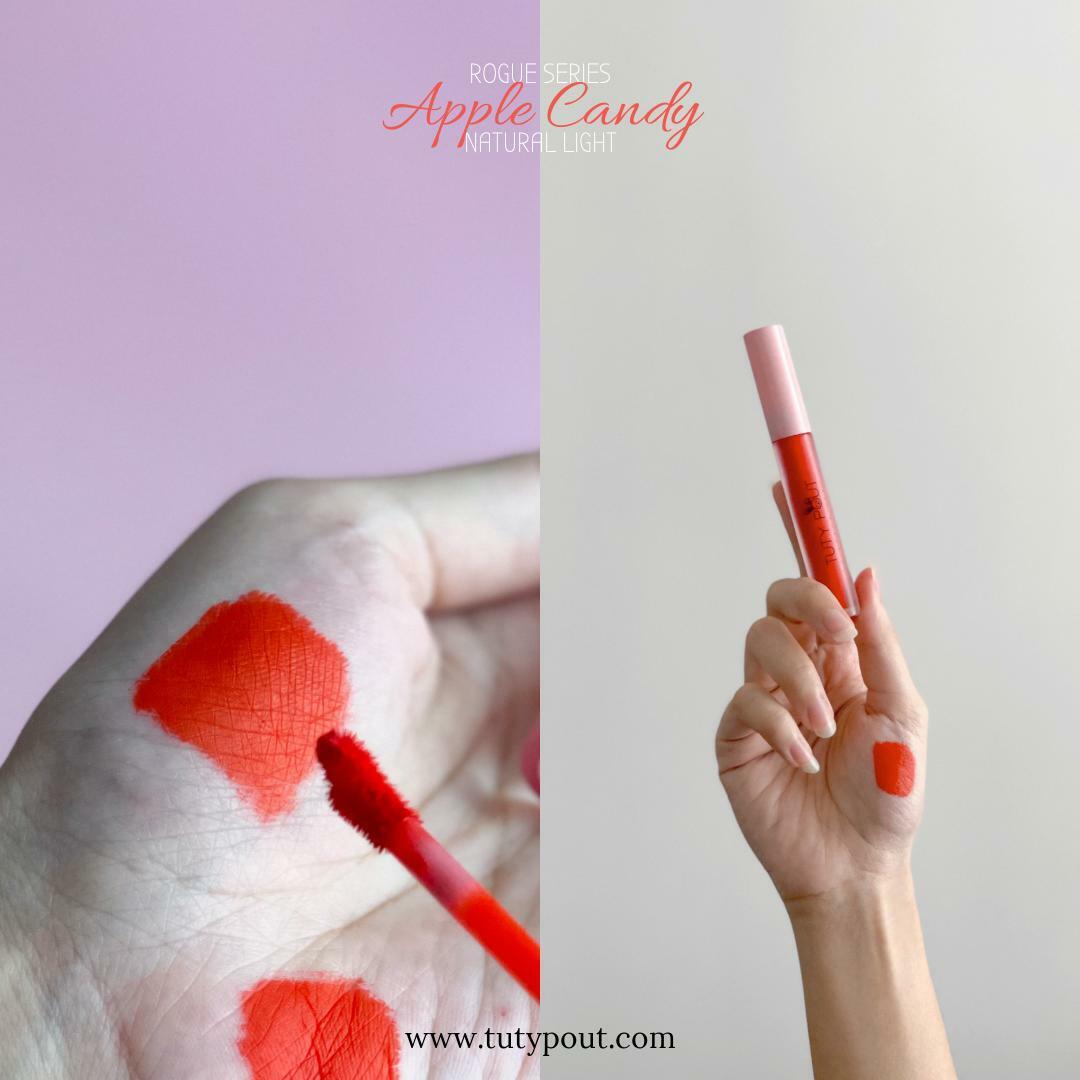 Tuty Pout Vegan & Cruelty-free Long-lasting Matte Liquid Lipstick - Apple Candy | Rogue Series
