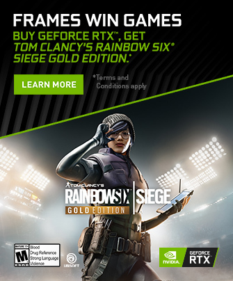 GeForce RTX Bundle - Get Rainbow Six Siege Gold Edition