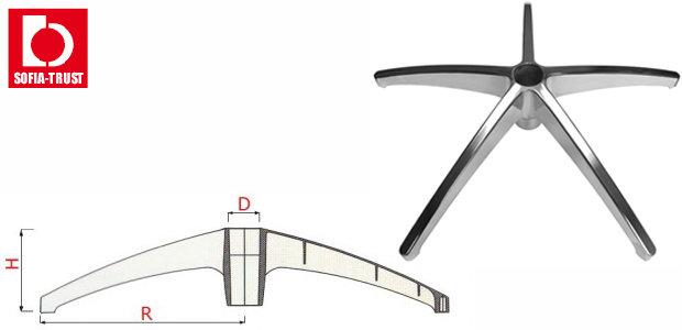 Крестовина полированный алюминий Ø 660 mm