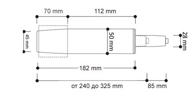 Размеры газлифты для кресел