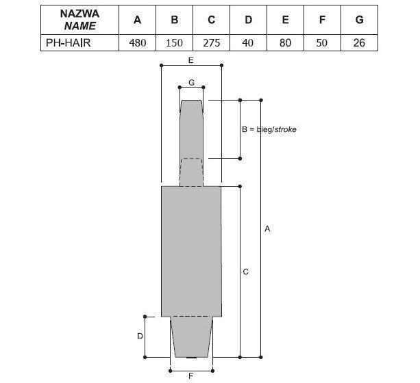 Гидравлический подъемник для парикмахерских кресел размеры