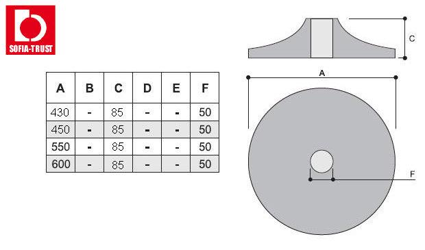 Круглая база для кресел- хромированная сталь