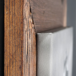 cornice in legno spazzolato da 7cm