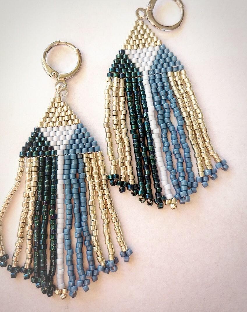 earrings rose des vents