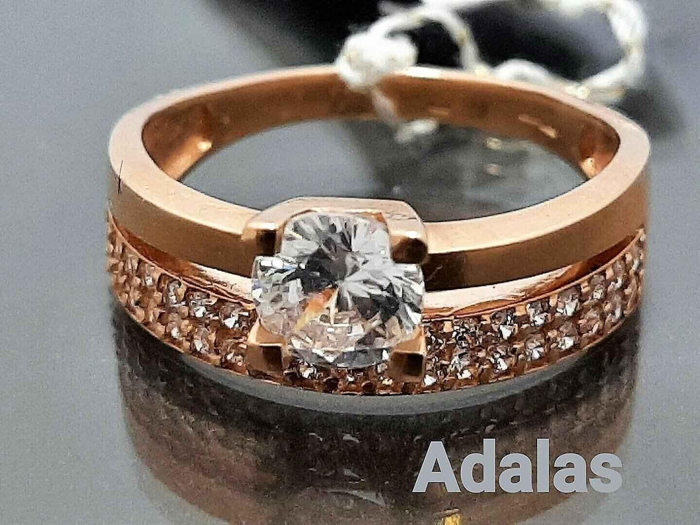 Auksinis žiedas su cirkonio akutėmis internetu pigiau moteriškas