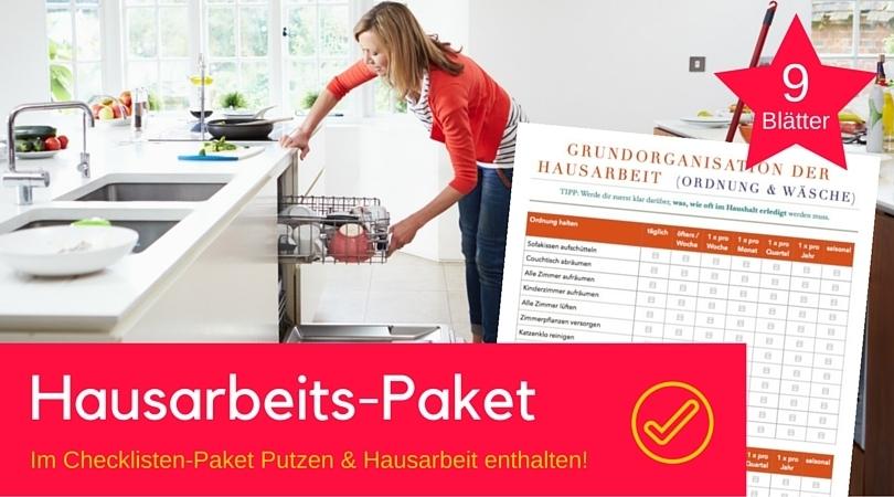 checklisten paket putzen und hausarbeit digistore24. Black Bedroom Furniture Sets. Home Design Ideas