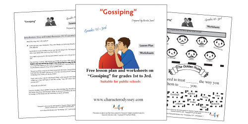 Gossiping lesson Plan and Worksheets