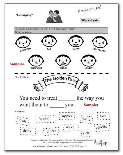 Gossiping Worksheet