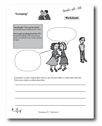 Gossiping Worksheet