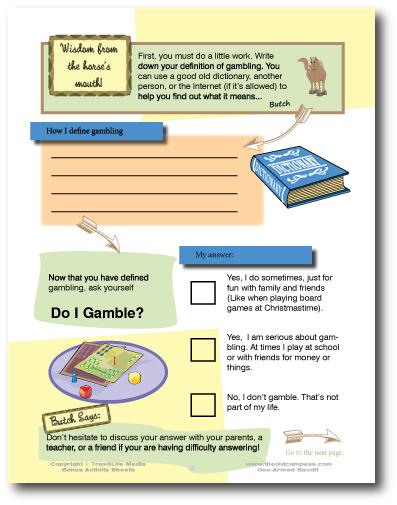 Gambling Activity Sheet