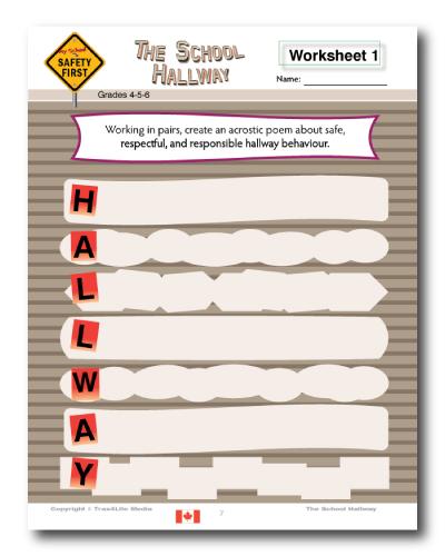 School Safety Worksheet