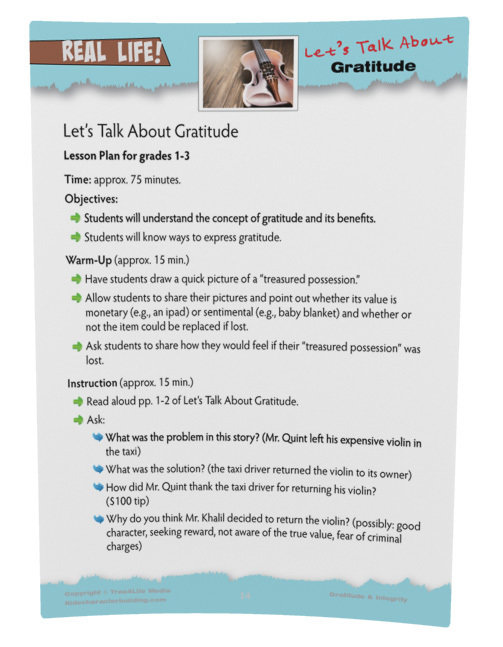 Gratitude Lesson Plan