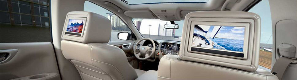 Подключение мониторов в подголовниках Nissan