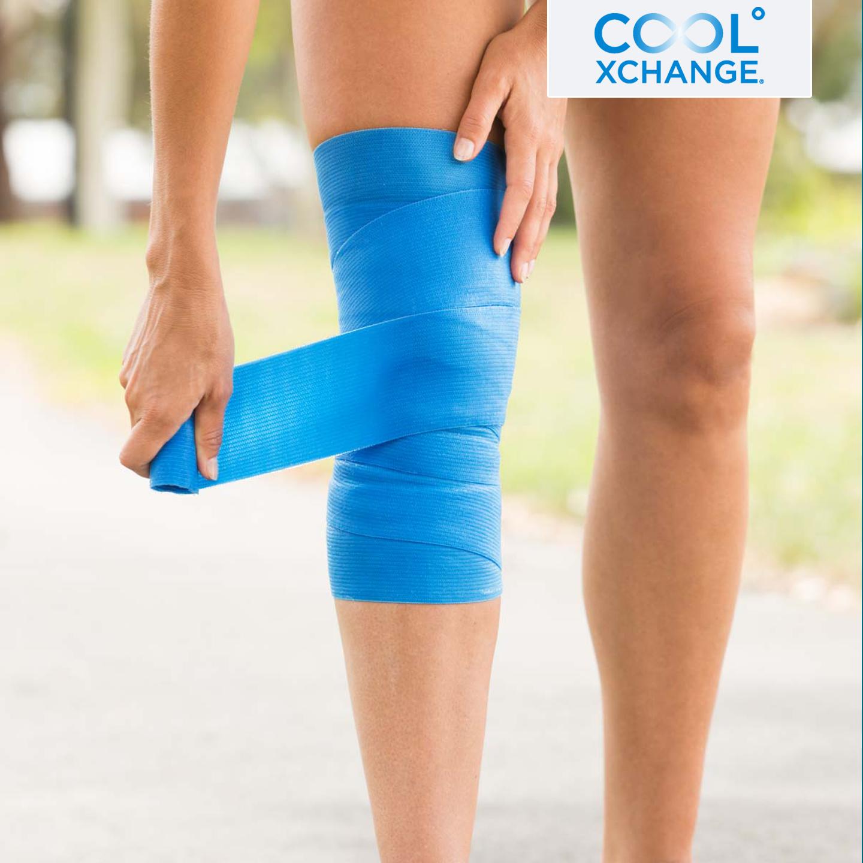 CoolXchange® 二合一壓力和冷凍自黏凝膠彈性繃帶,有助預防及恢復,從受傷引起的肌肉疼痛、腫脹和發炎