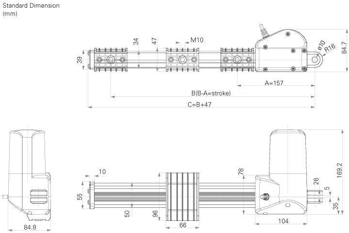 Recliner motor for Okin jldq 11 motor