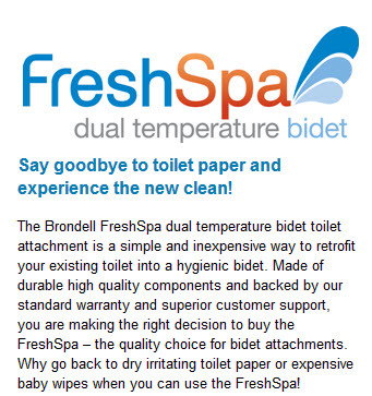 freshspa dual temperature bidet