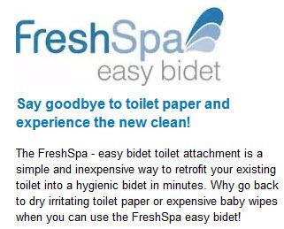 freshspa easy bidet