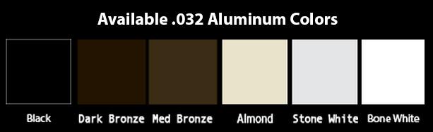 Aluminum Plain Square Downspout