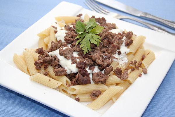 Рецепт макарон с соевым фаршем