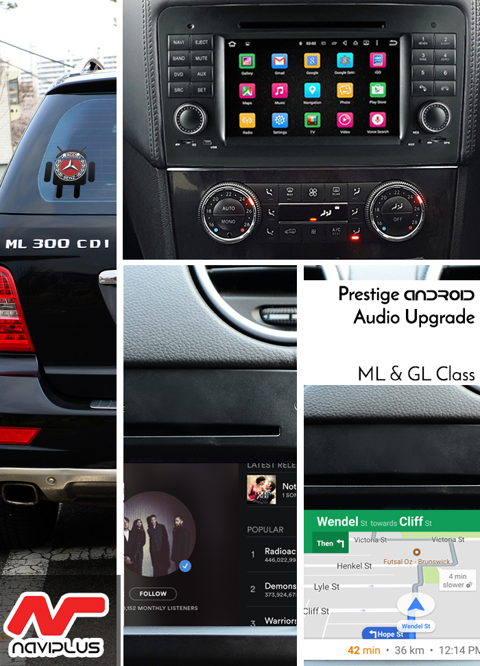 Mercedes Benz W164 Ml X164 Gl Class 7 Quot Touch Android Gps Bluetooth Upgrade Ebay