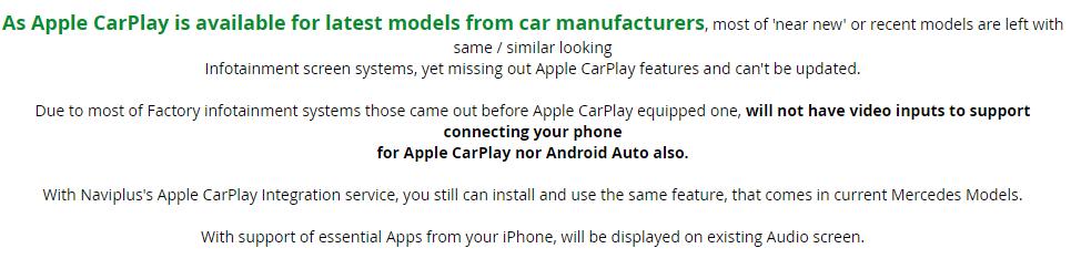 Upgrade your Mercedes Benz NTG 4 Audio with Apple CarPlay