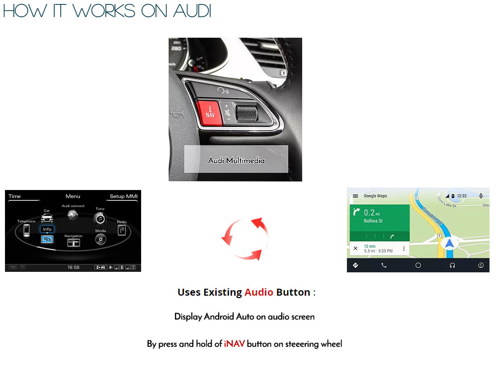 Audi A6 C6 2009 2011 Factory 3g Mmi Integrated Touch Android Auto Retrofit Kit Ebay
