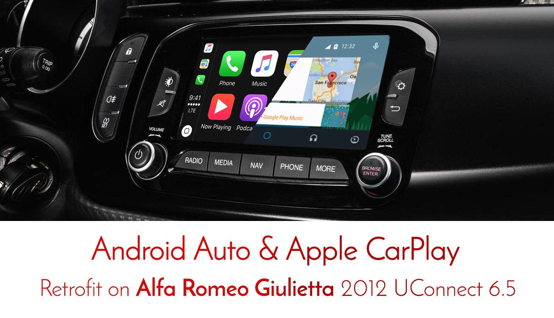 Alfa Romeo Giulietta Uconnect Apple Carplay Amp Android Auto Retrofit Kit Ebay