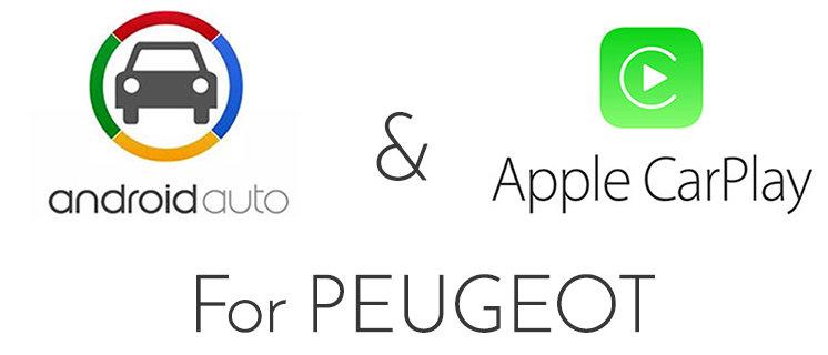 Peugeot 208 Mirror Screen audio Integrated Apple CarPlay / Android Auto  retrofit Pack
