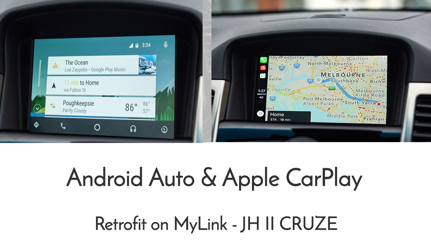 Details about Holden / Chevy Cruze JH-II MyLink Android Auto & Apple  CarPlay retrofit pack