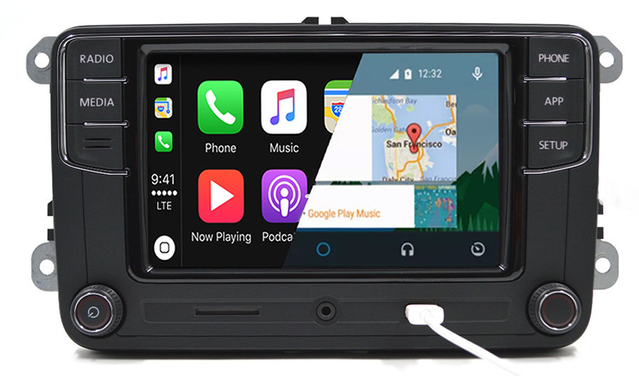 vw rcd340 android auto apple carplay infotainment for. Black Bedroom Furniture Sets. Home Design Ideas