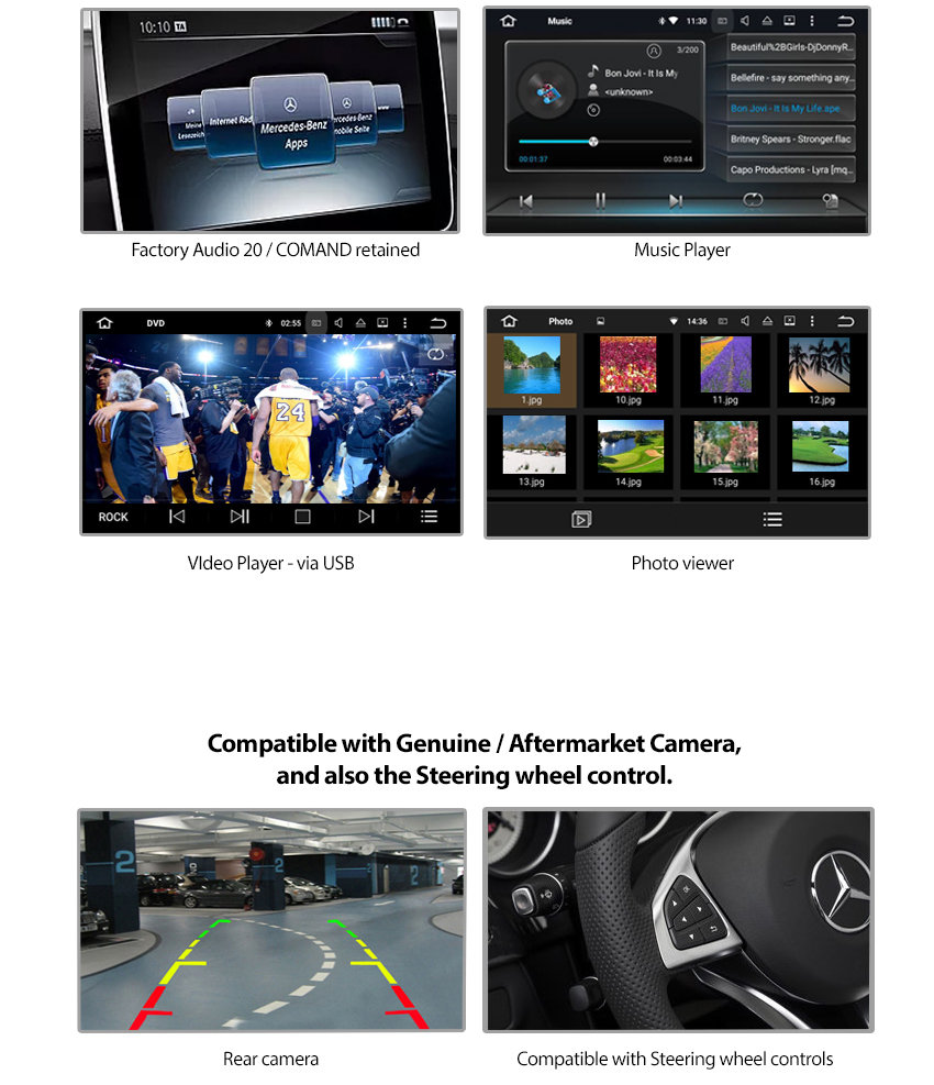 mercedes benz w205 c class apple carplay and. Black Bedroom Furniture Sets. Home Design Ideas