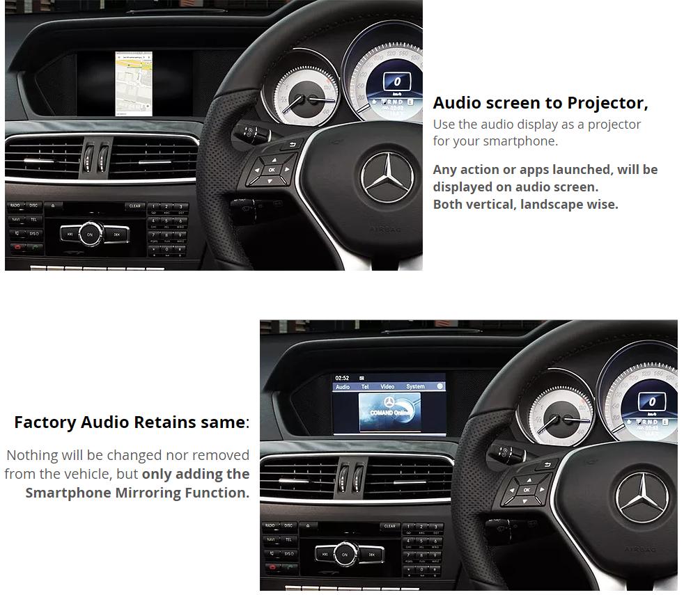 Details about Mercedes Benz W204 C class AirPlay GPS MirrorLink Rear Cam  Retrofit Kit