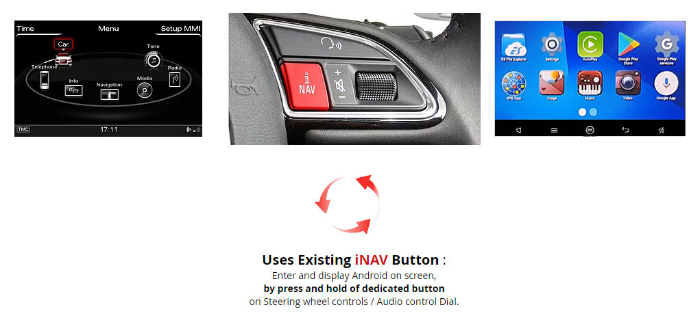Audi A6 & A7 3G MMI Plus Audio Integrated Android 5 1 OS Upgrade