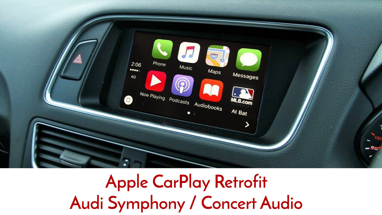 Apple CarPlay with Factory dial control to suit Audi A4