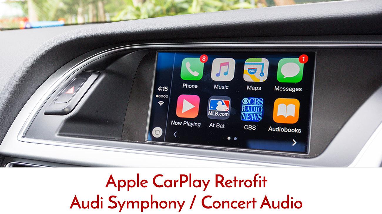 Audi A4 B8 B8 5 2009 2015 3g Concert Symphony Apple Carplay Upgrade Kit Ebay