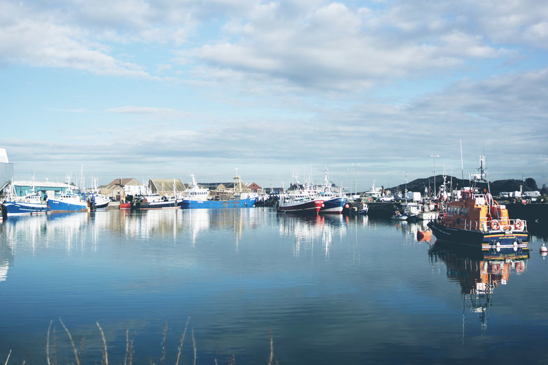 Colourful Boats in Ireland