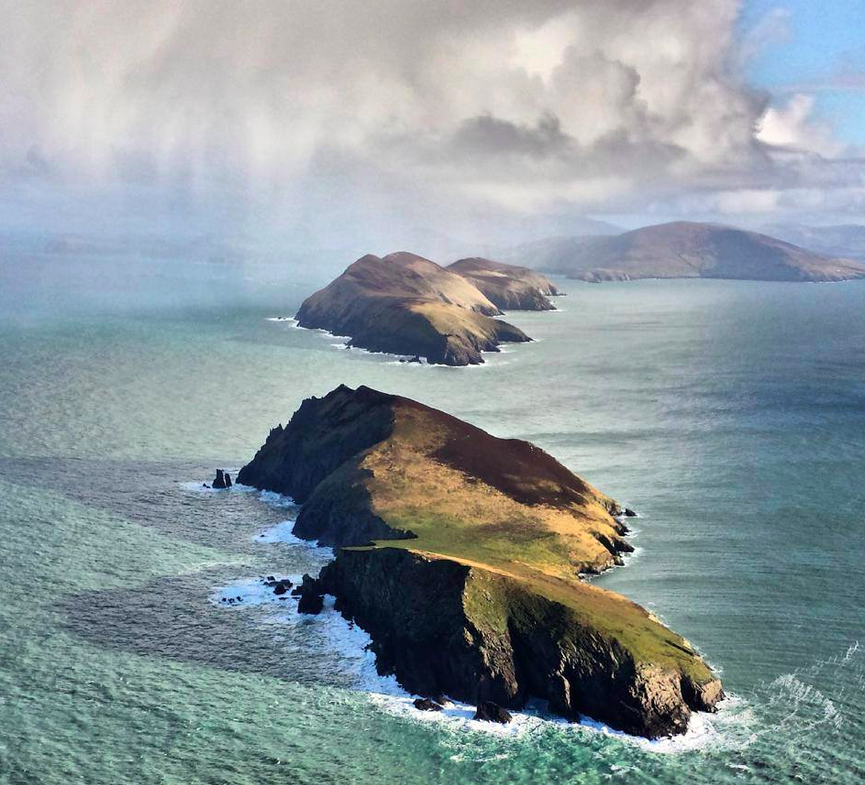 The Blasket Islands off the Kerry Coast