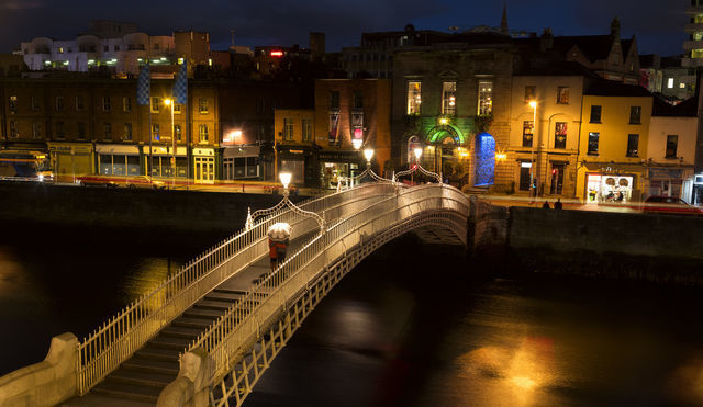 The Halfpenny Bridge Dublin. Ireland