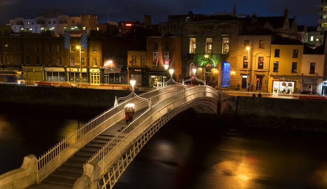 The Hal'Penny Bridge. Dublin. Ireland