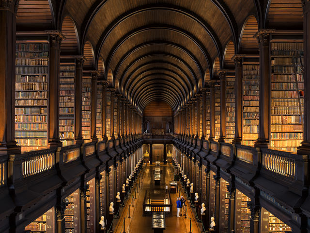 The Long Room, Trinity College. Dublin