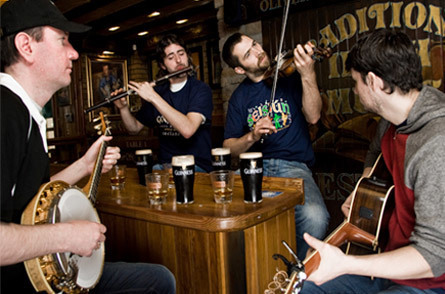 Irish Music Session in the Pub