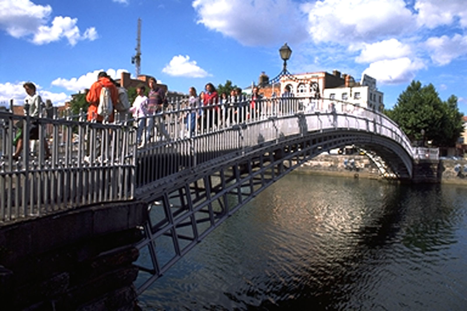 The Ha'Penny Bridge, Dublin. Ireland
