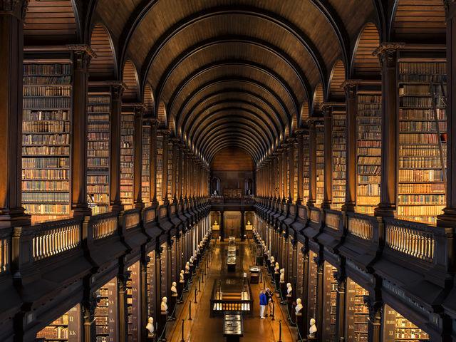 Trinity College Library. Dublin. Ireland