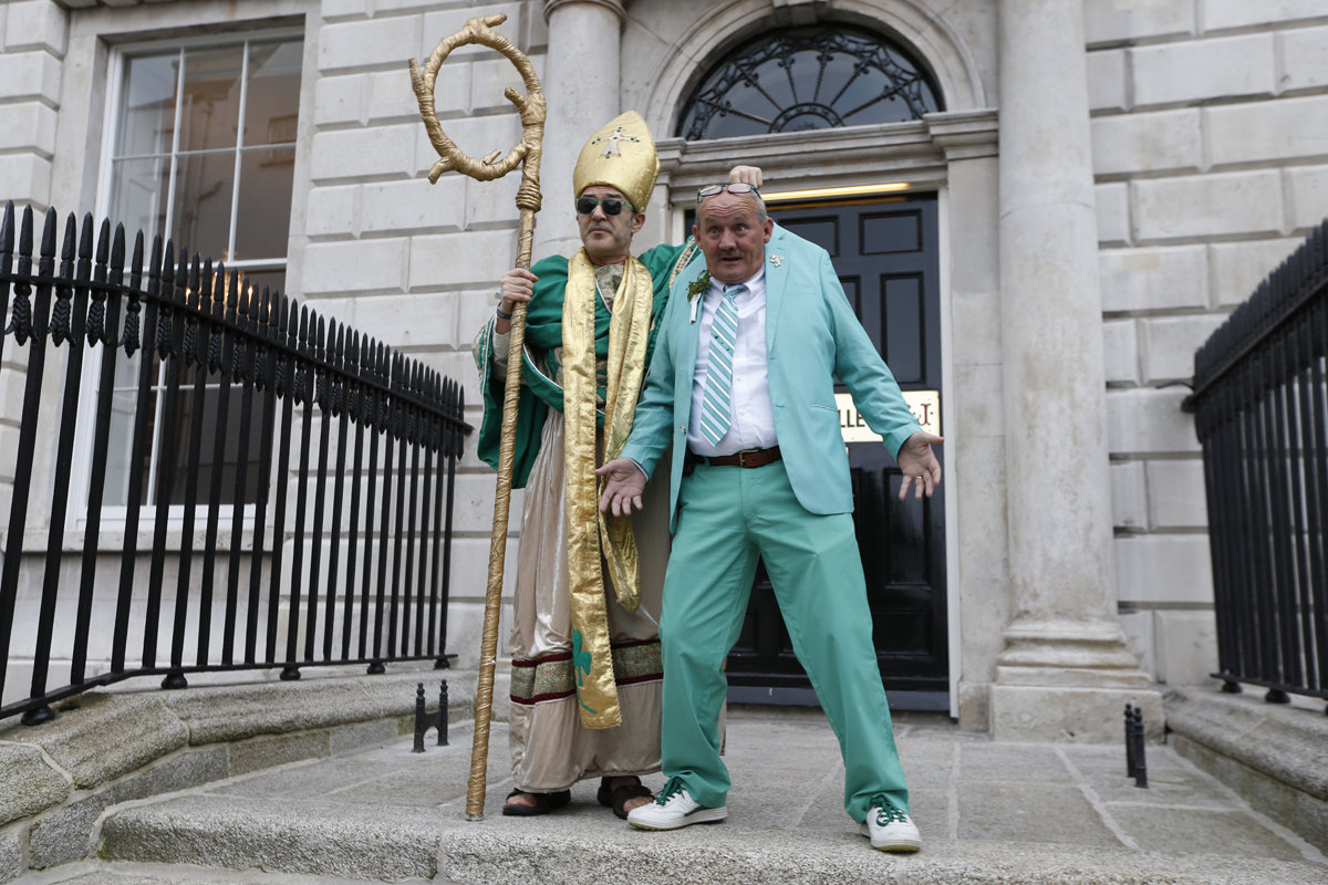 Brendan O Carroll and St Patrick in Dublin
