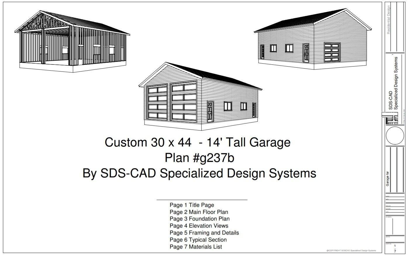 Rv garage plan sds plans for Rv with a garage