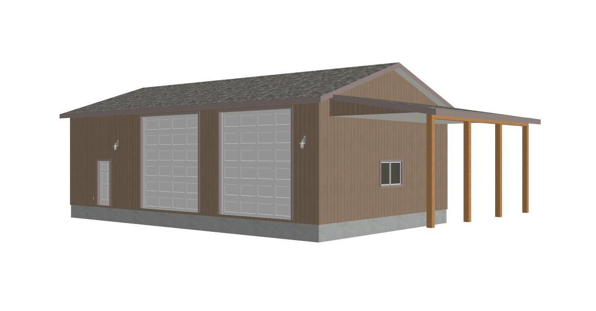 G393 30 X 50 X 14 detached RV Garage Plans PDF – Detached Rv Garage Plans