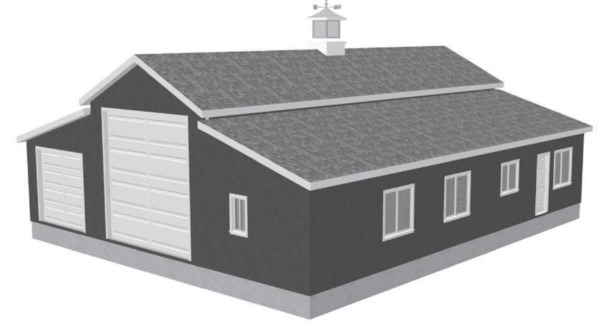 G450 60 x 50 x 10 Apartment Barn Style RV Garage Plans